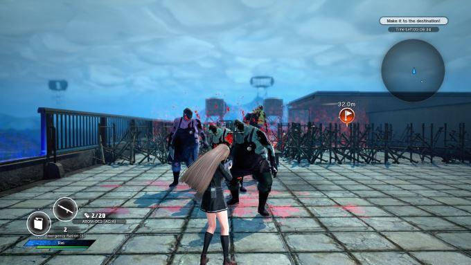 image gameplay school girl zombie hunter