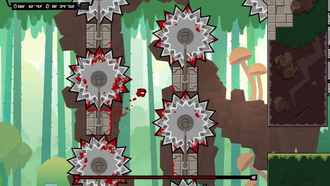 image gameplay super meat boy forever