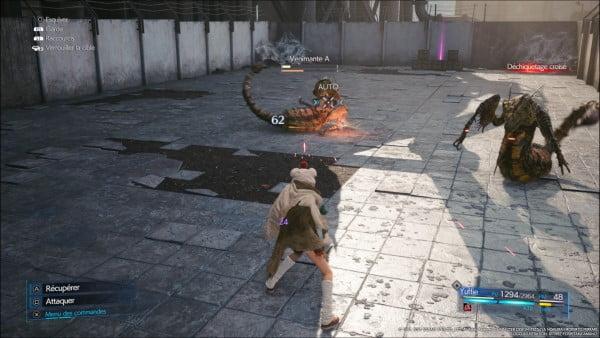 image gameplay final fantasy vii intergrade