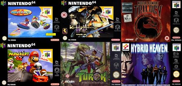 image premiers jeux nintendo 64