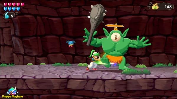 image gameplay wonder boy asha in monster world