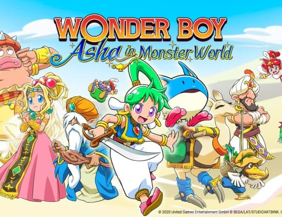 image jeu wonder boy asha in monster world