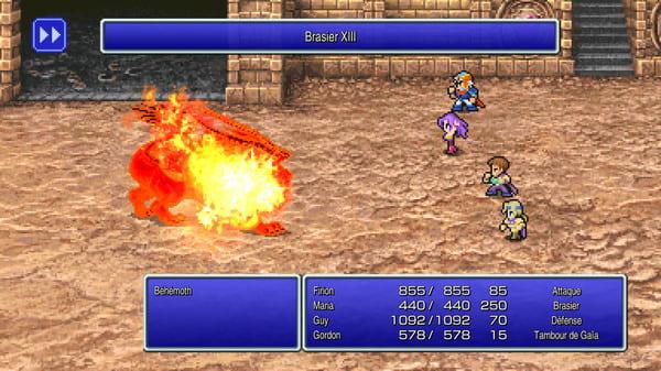 image gameplay final fantasy ii pixel remaster
